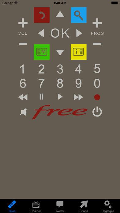 Freetelec Application télécommande Freebox TV