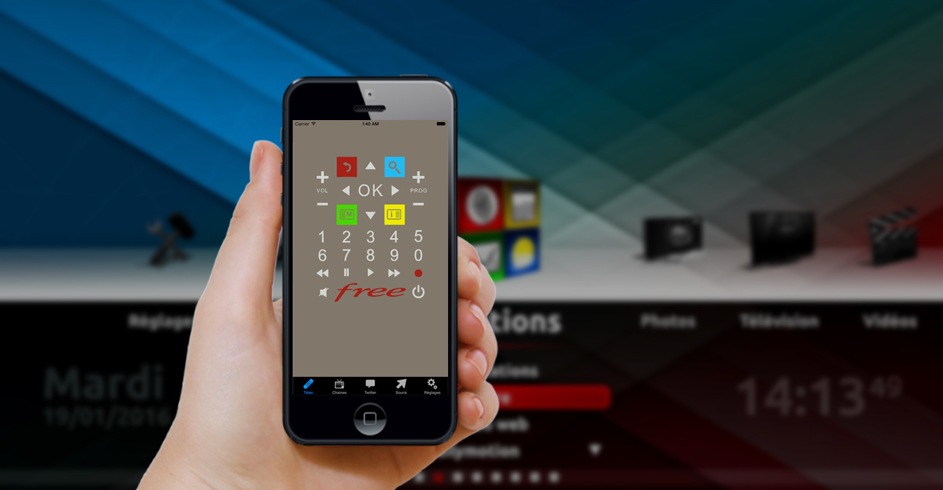 application t l commande freebox pour android et iphone. Black Bedroom Furniture Sets. Home Design Ideas