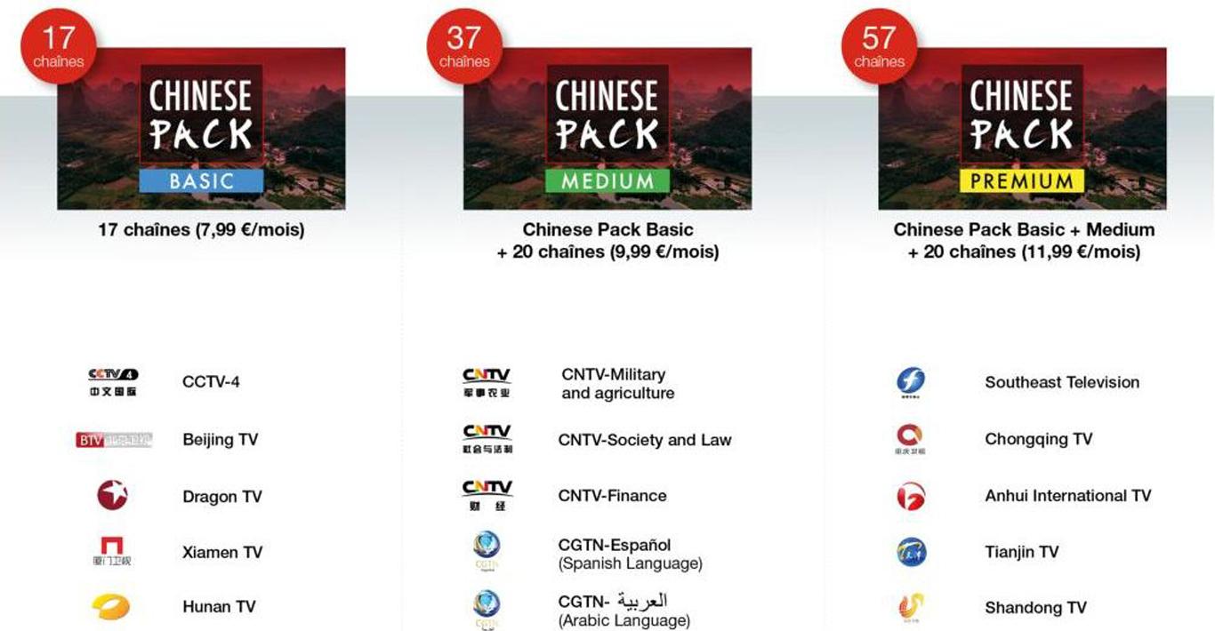 free tv les chaines du bouquet chinese pack gratuit. Black Bedroom Furniture Sets. Home Design Ideas