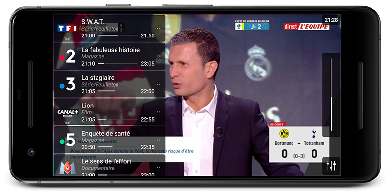 Application Free TV direct sur mobile
